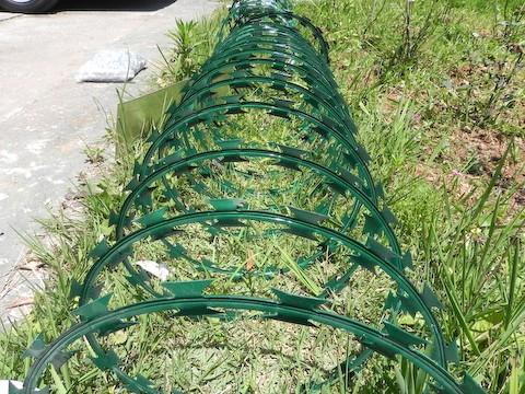 Concertina PVC Cinza e Verde